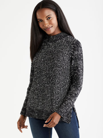 Chenille Mock Neck Top
