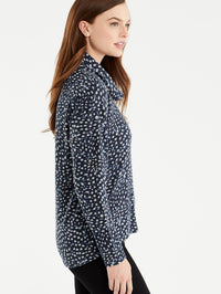 The Jones New York Leopard Print Cowl Neck Top, Plus Size in color Leopard Print - Image Position 2