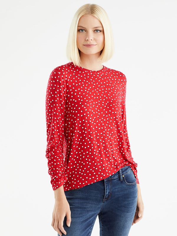 Scrunched Sleeve Top