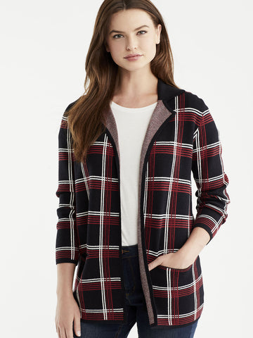 Plaid Knit Blazer