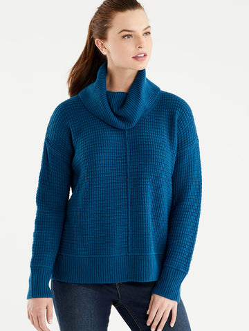 Stitch Front Turtleneck
