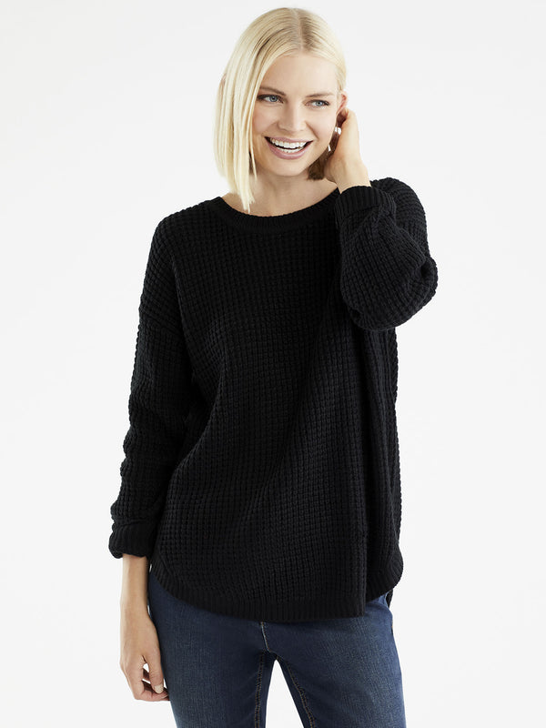 Tuck Stitch Sweater, Plus Size