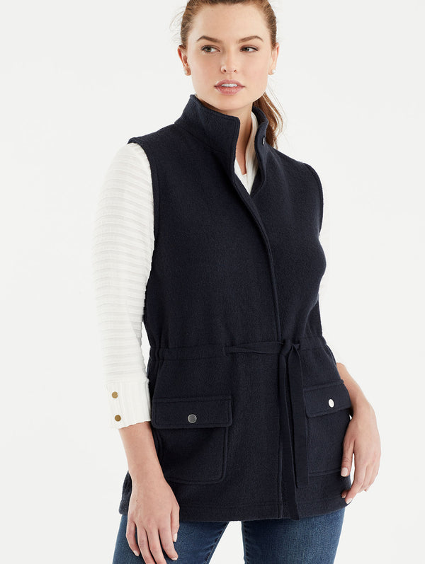 Wool Cargo Vest, Plus Size