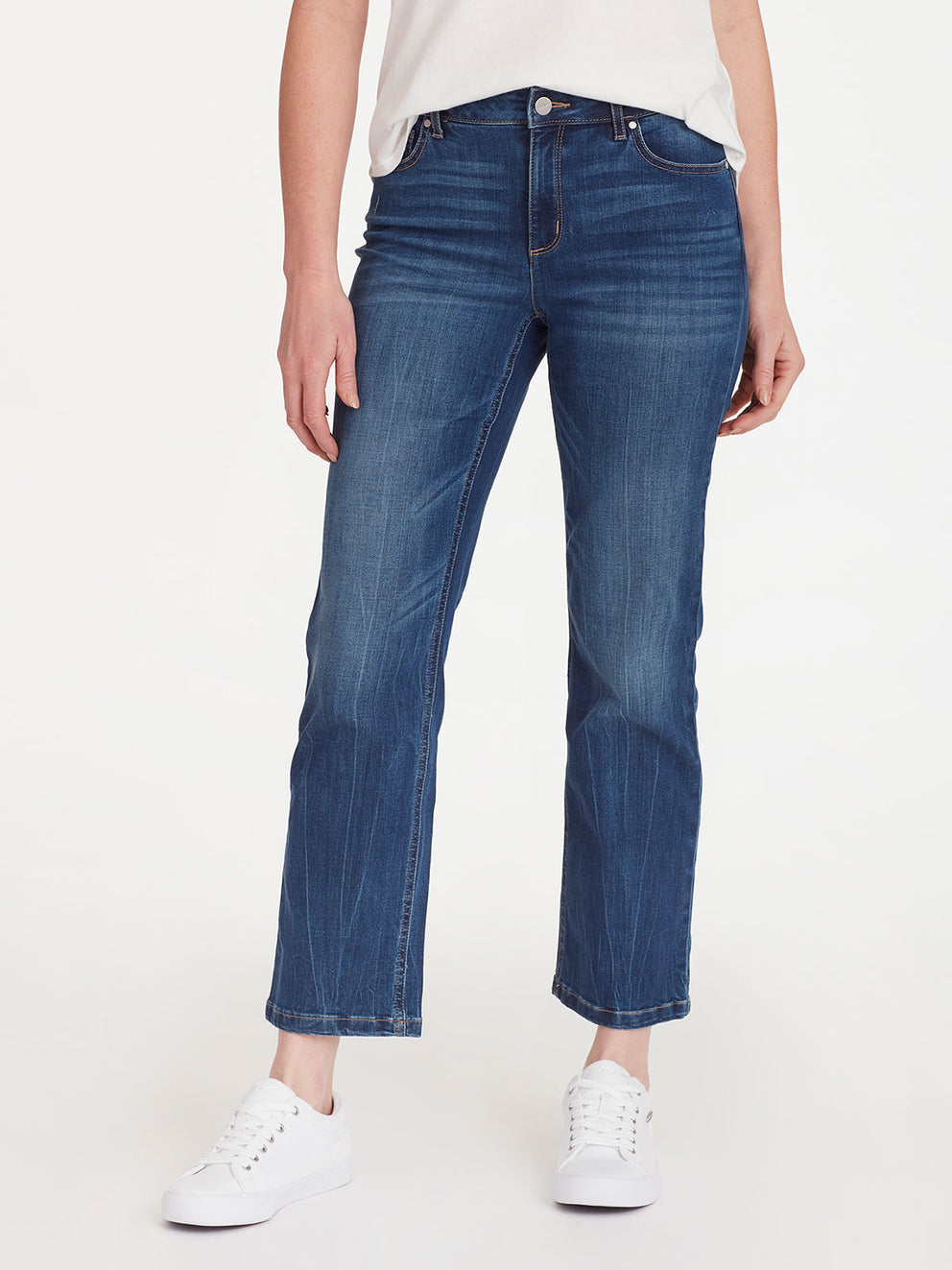 The Jones New York Lexington Montana Wash Ankle Jeans in color Montana Wash - Image Position 1
