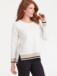 The Jones New York Textured Knit Pullover in color Ivory - Image Position 2