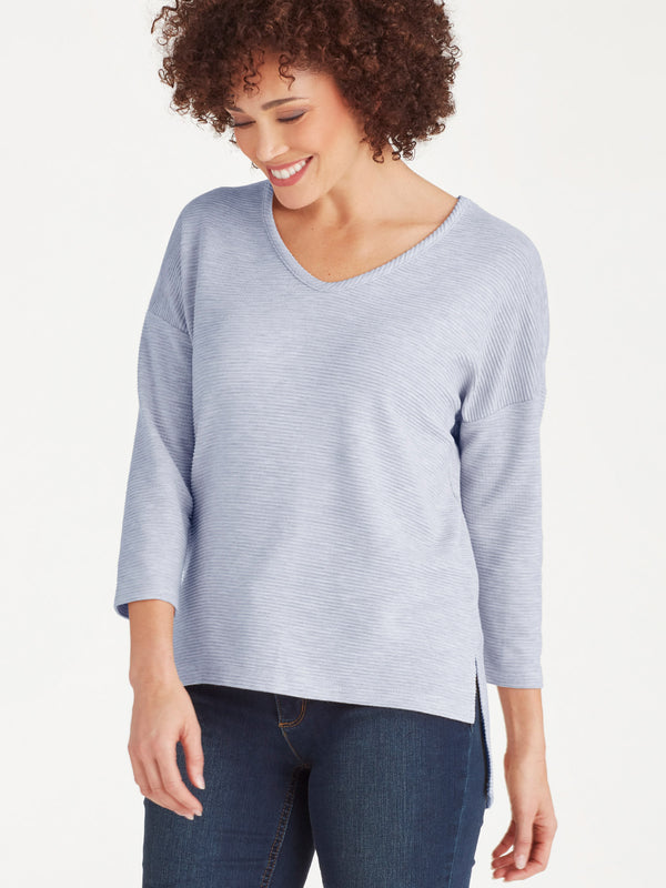 Ottoman Stitch Top, Plus Size