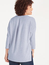 The Jones New York Ottoman Stitch Top in color Light Blue Glass - Image Position 4