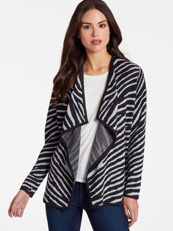 Zebra Open Front Jacket