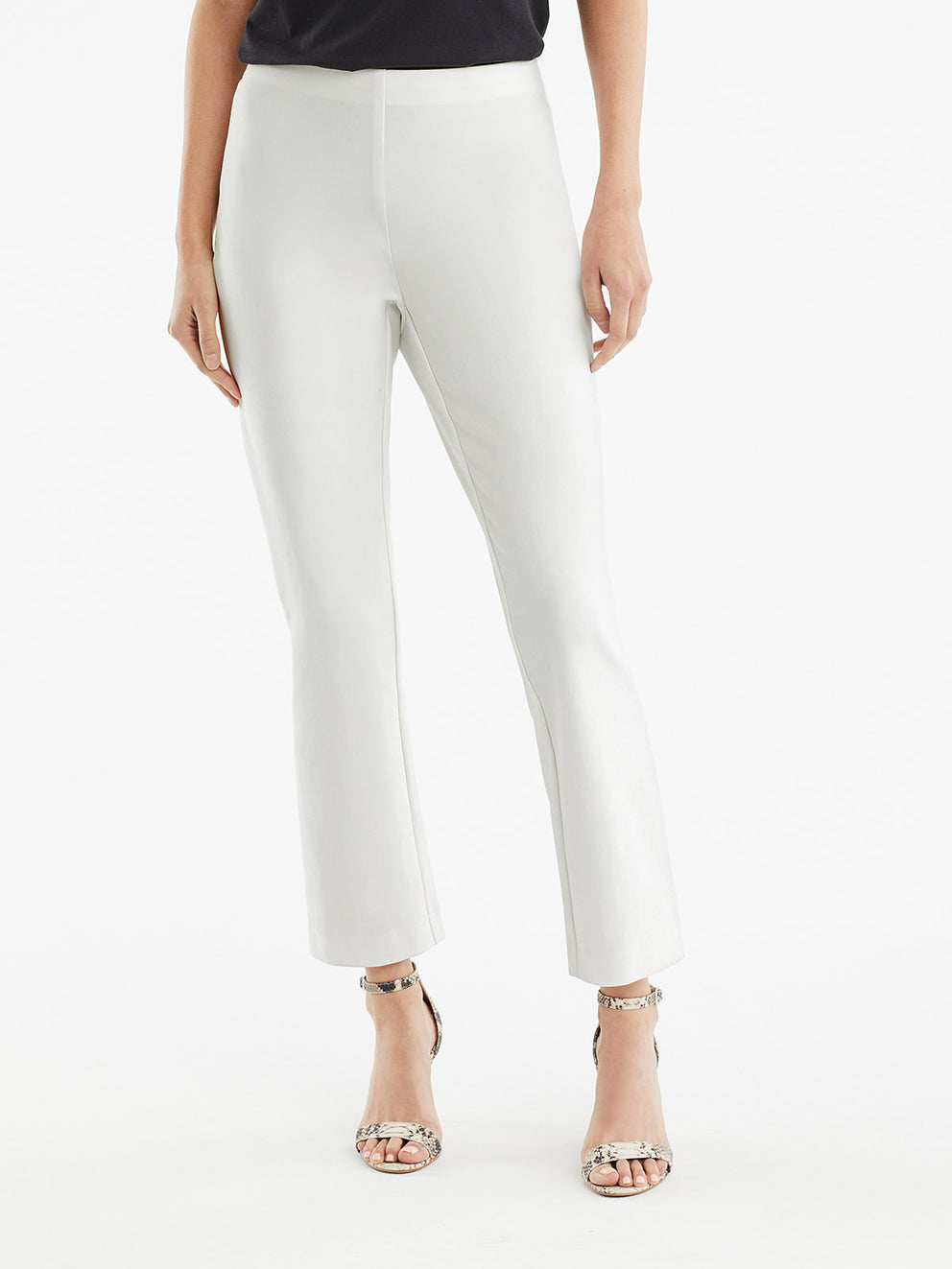 The Jones New York Clean Pull-On Pant in color Ivory - Image Position 1