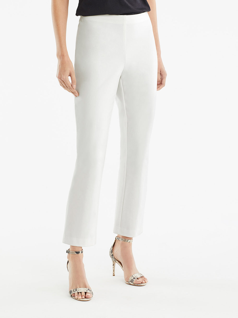 The Jones New York Clean Pull-On Pant in color Ivory - Image Position 2
