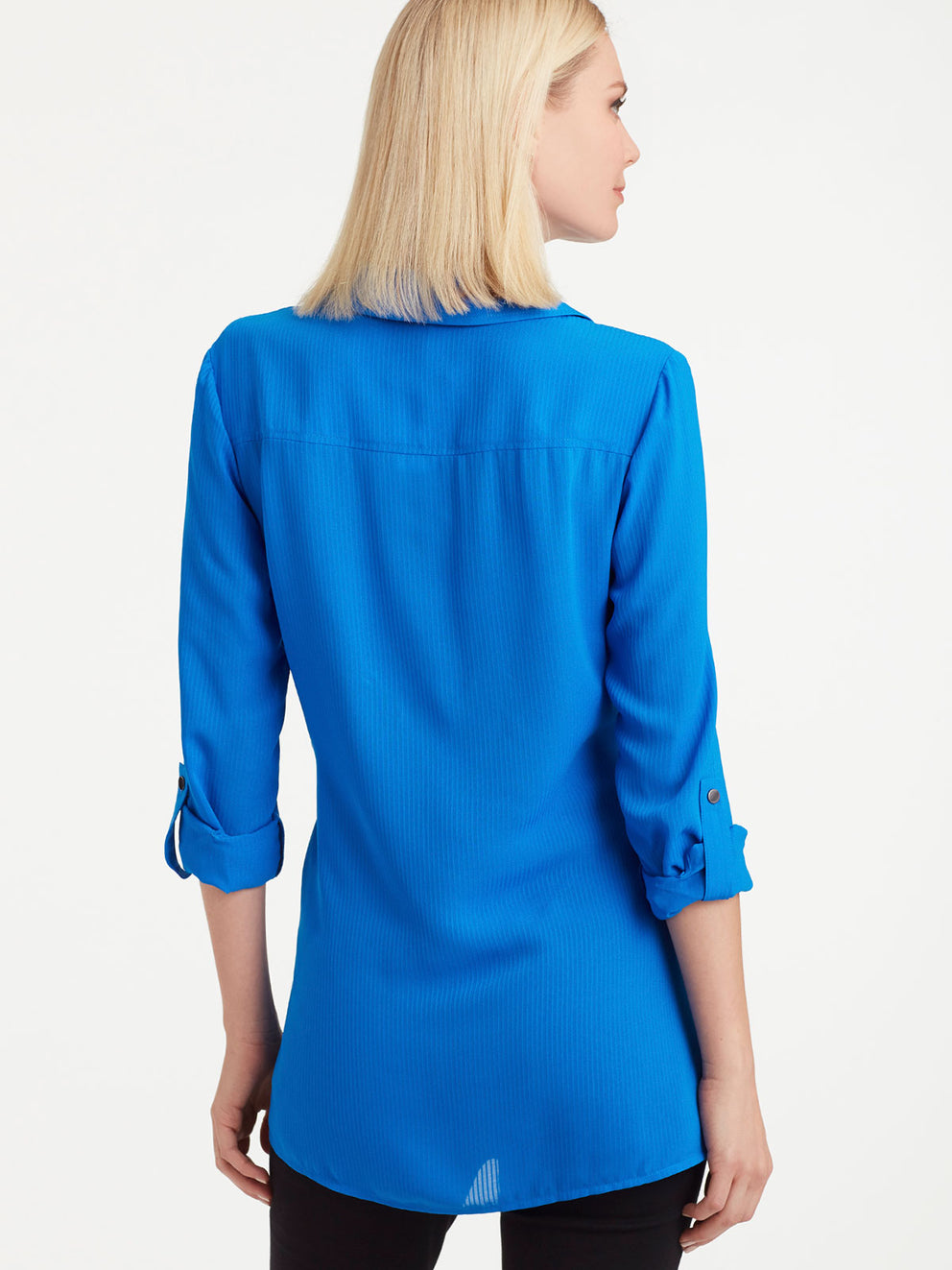 The Jones New York Twist Front Shirt in color Bright Sapphire - Image Position 3