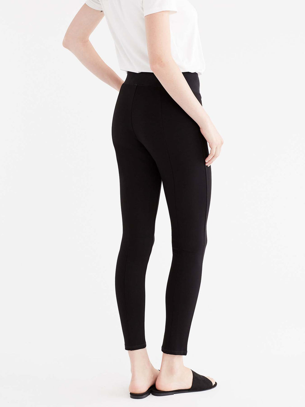 High Waist Slim Fit Pant Color Black