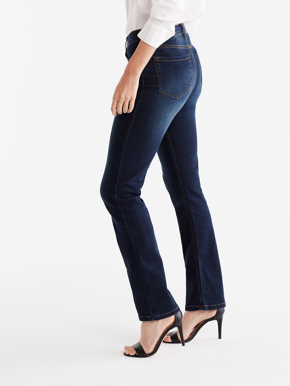 The Jones New York Lexington Indigo Wash Straight Leg Jeans, Plus Size in color Indigo Wash - Image Position 5