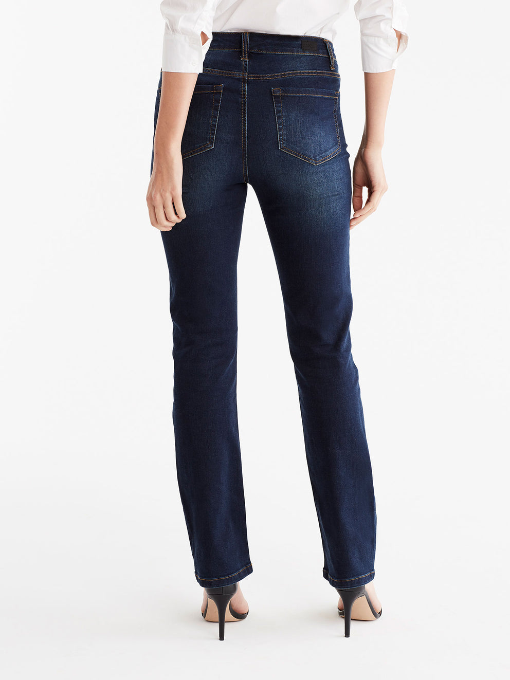 The Jones New York Lexington Indigo Wash Straight Leg Jeans, Plus Size in color Indigo Wash - Image Position 6