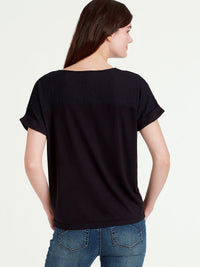 The Jones New York Sheer Panel Top in color Black - Image Position 3