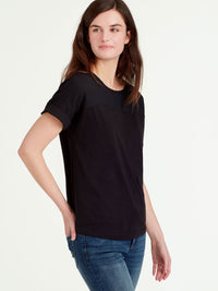 The Jones New York Sheer Panel Top in color Black - Image Position 2
