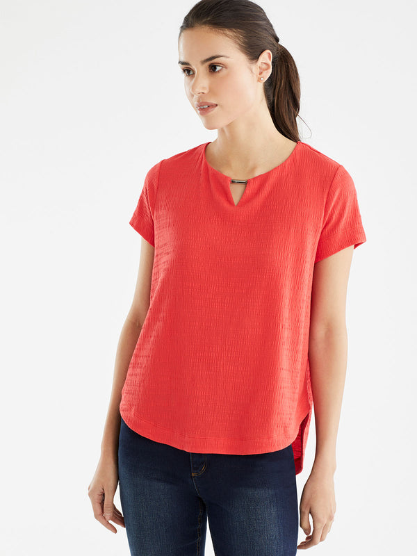 Scoop Neck Top, Plus Size