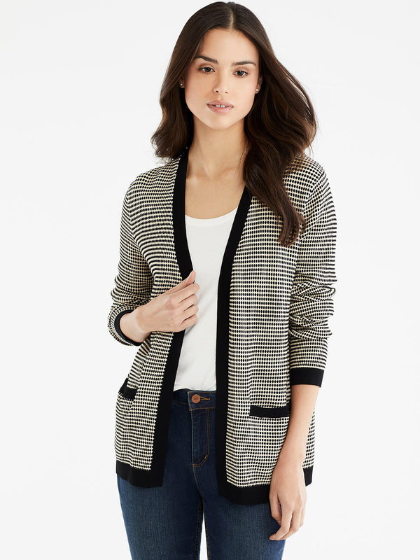 V-Neck Open Cardigan