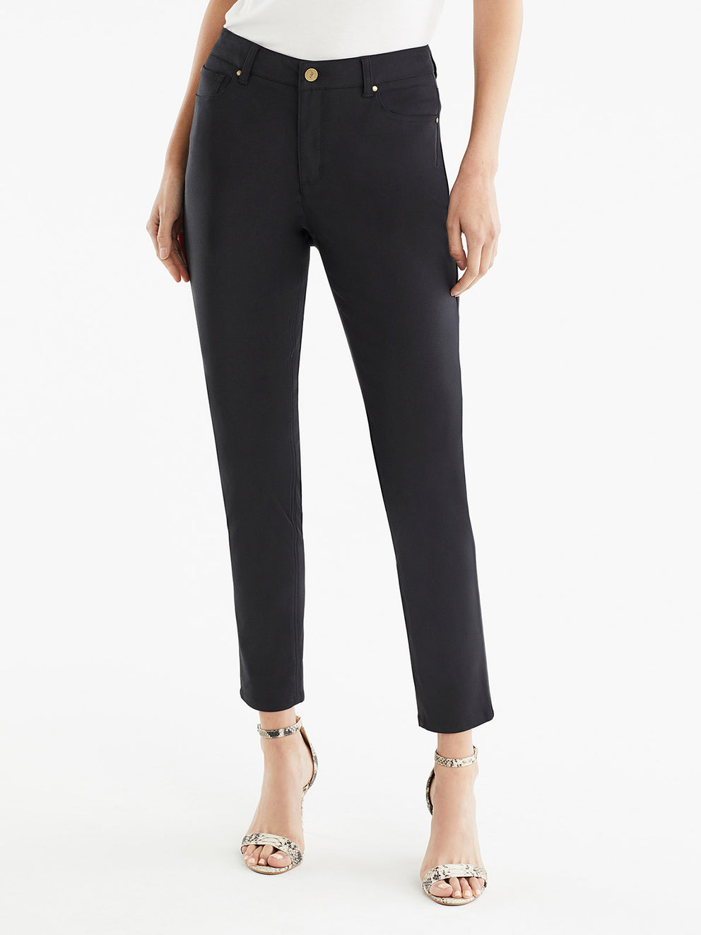 The Jones New York Lexington Skinny Ankle Jeans in color Black - Image Position 1