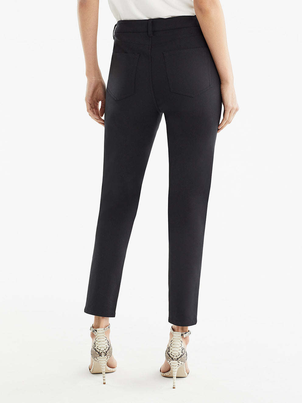 The Jones New York Lexington Skinny Ankle Jeans in color Black - Image Position 3