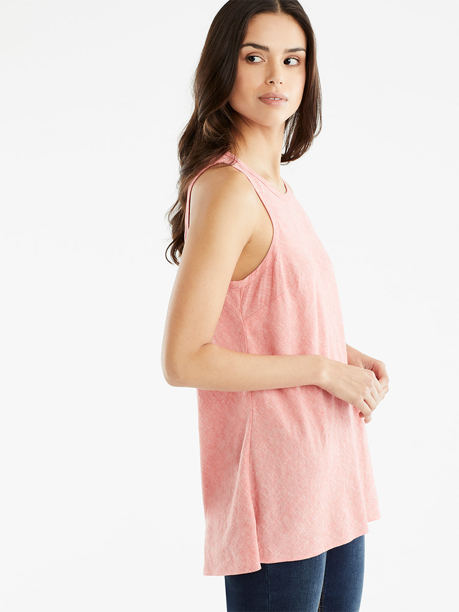 The Jones New York Sleeveless Bias Top in color Watermelon Combo - Image Position 2
