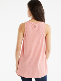 The Jones New York Sleeveless Bias Top in color Watermelon Combo - Image Position 3