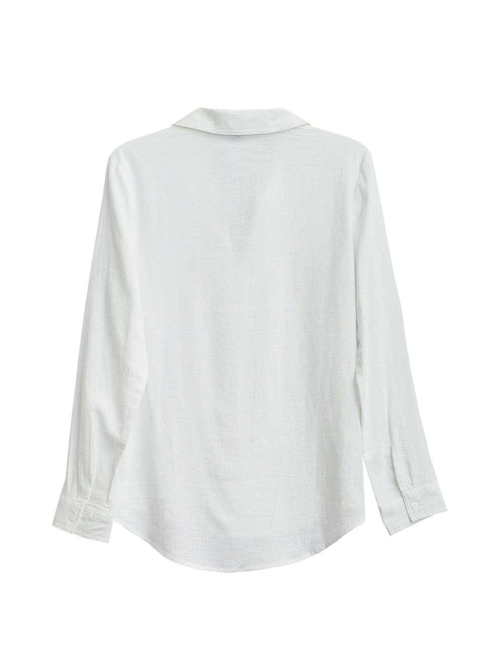 The Jones New York Pleated Popover Top in color White Linen - Image Position 2