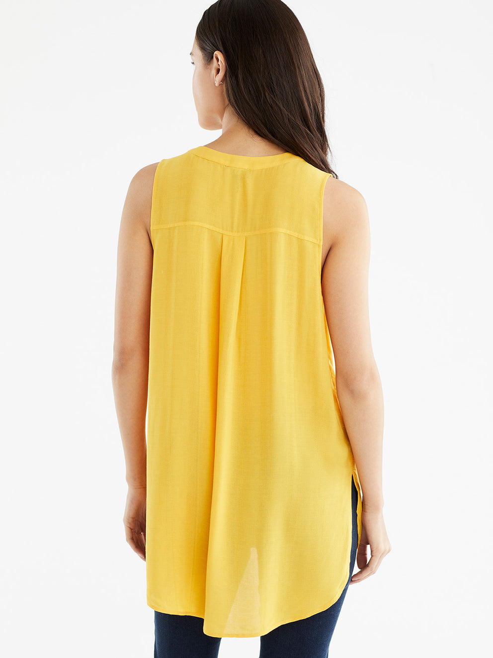 The Jones New York Relaxed Tank Top in color Golden - Image Position 3