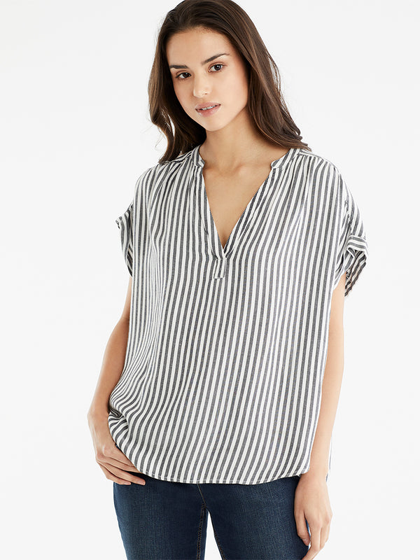 Relaxed Stripe Top, Plus Size