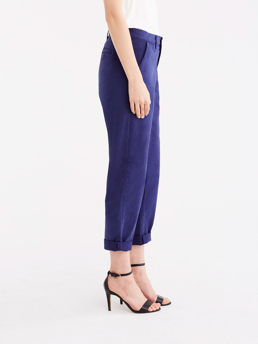 Classic Cropped Chino Color Navy