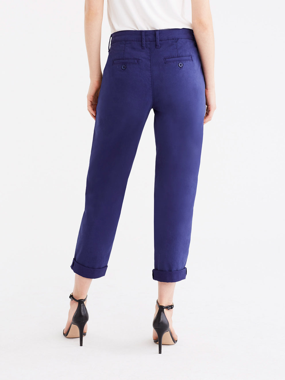 The Jones New York Classic Cropped Chino in color Navy - Image Position 5