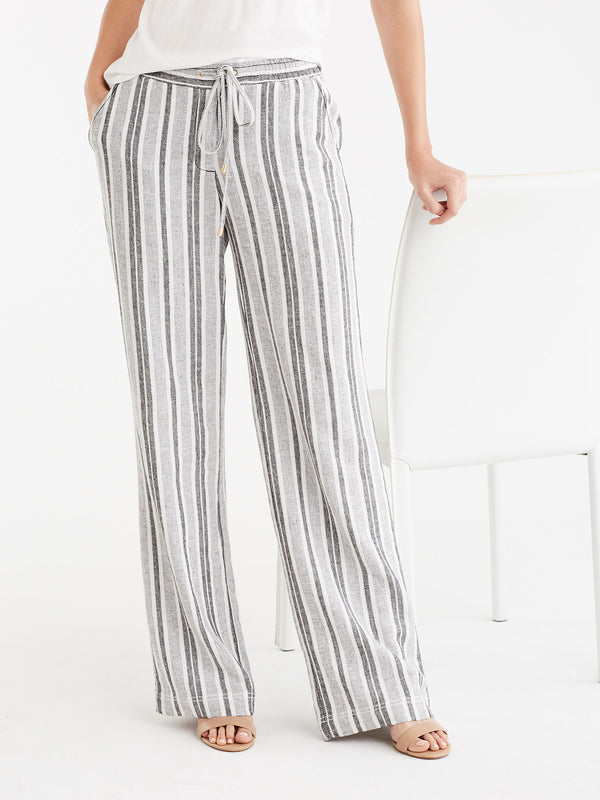 Drawstring Wide Leg Pants, Plus Size