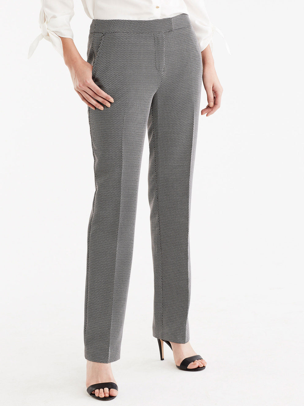 The Jones New York Printed Sydney Pant in color Black Ivory - Image Position 3