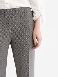 The Jones New York Printed Sydney Pant in color Black Ivory - Image Position 2