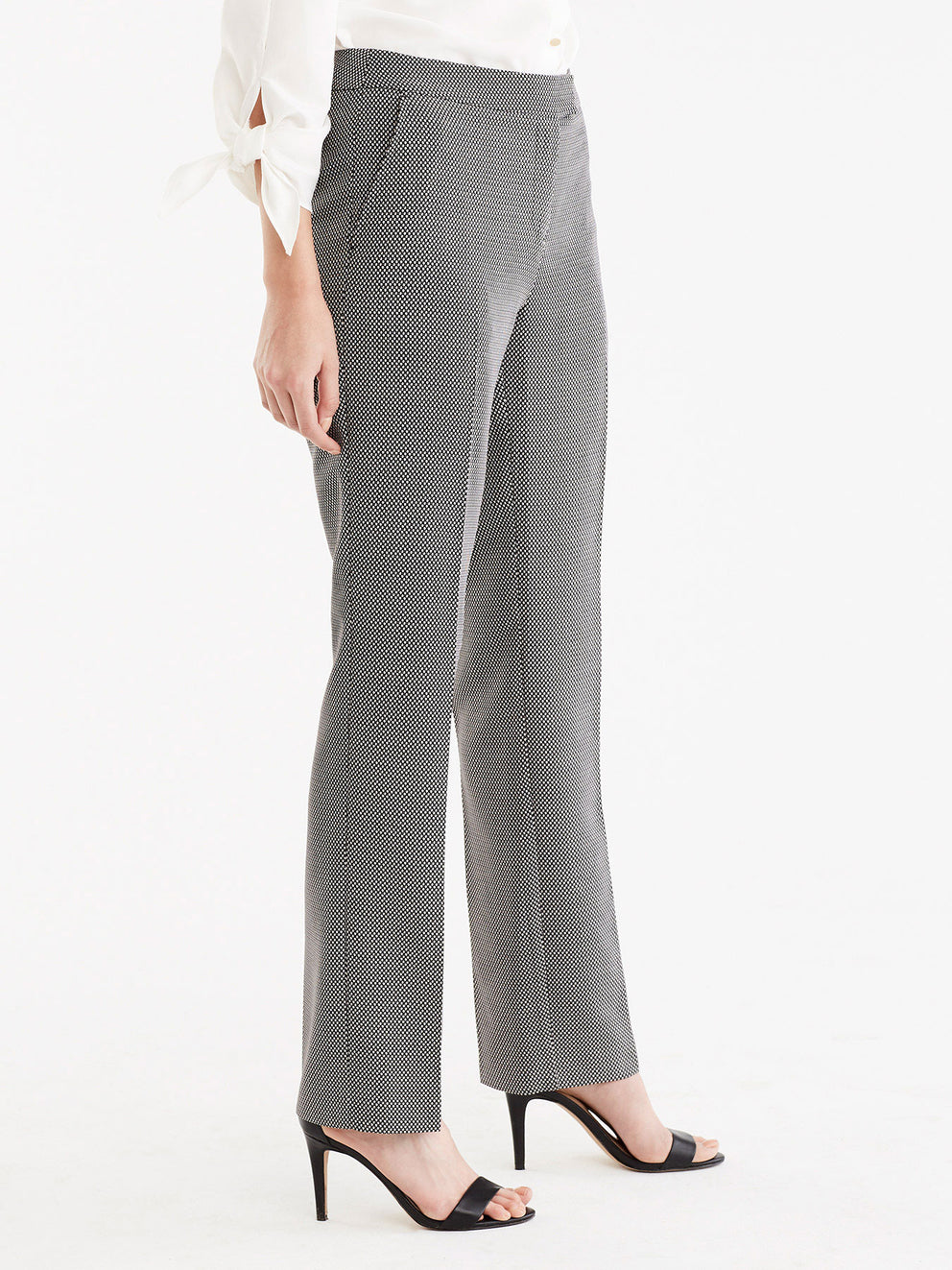 The Jones New York Printed Sydney Pant in color Black Ivory - Image Position 4