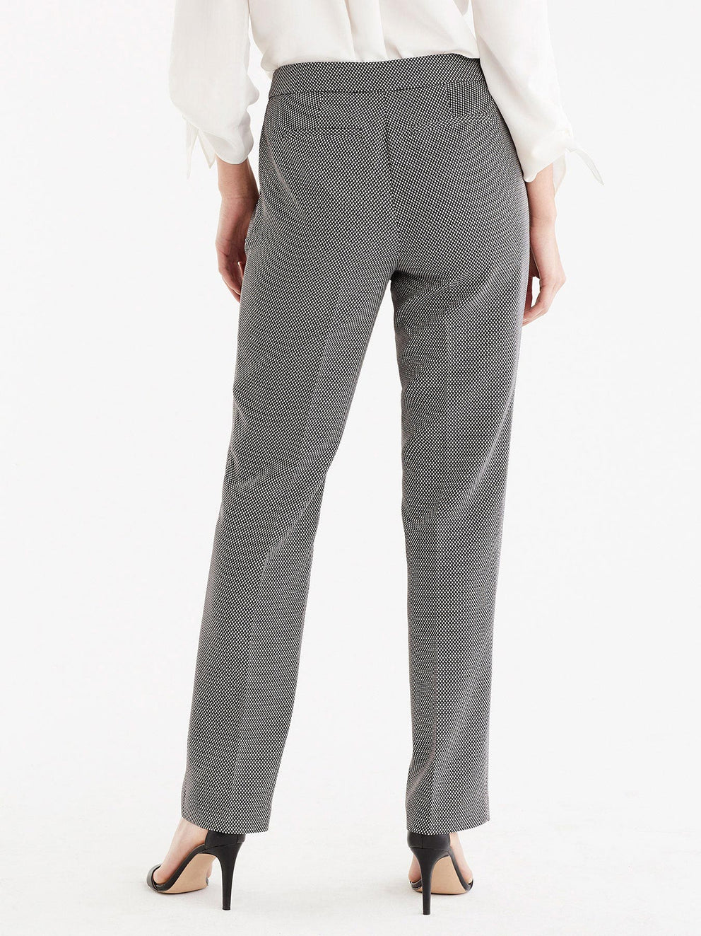 The Jones New York Printed Sydney Pant in color Black Ivory - Image Position 5