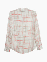 The Jones New York Pleated Popover Top in color Ivory Combo Plaid - Image Position 2