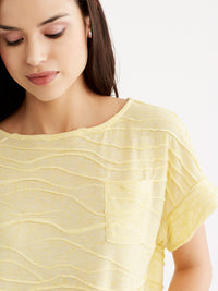 Dolman Sleeve Pocket Tee Color Lemon