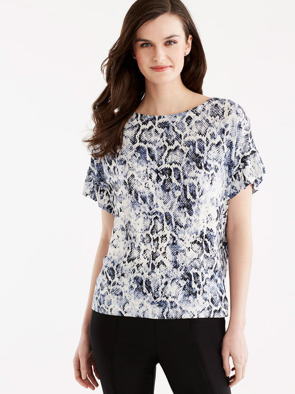 Ruffle Sleeve Tee, Plus Size