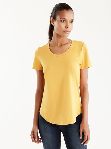 Basic Scoop Neck Tee