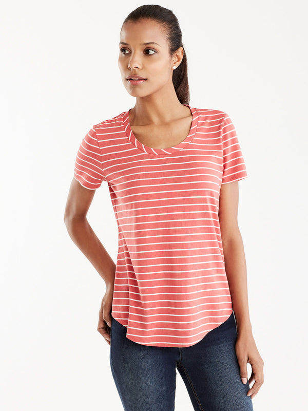 Basic Scoop Neck Tee, Plus Size