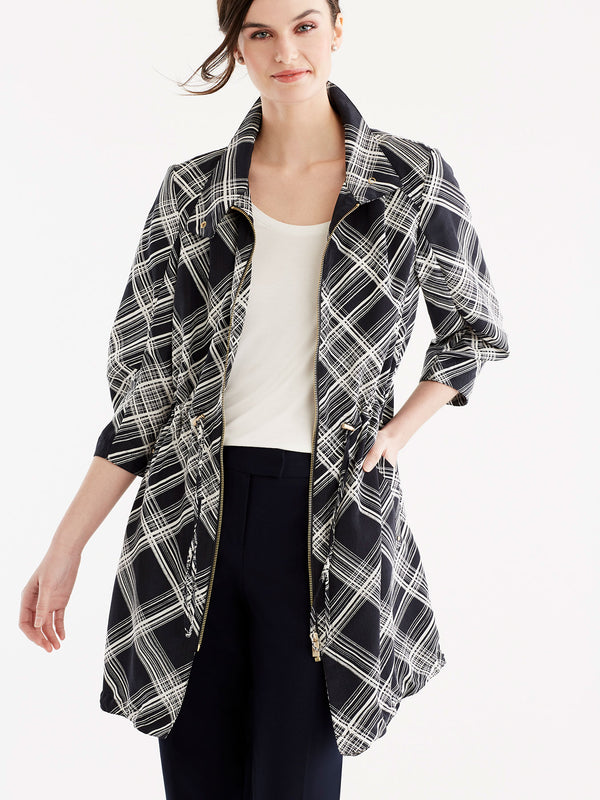 Ruched Sleeve Anorak