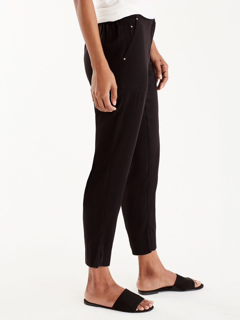 Relaxed Twill Utility Pants Color Black