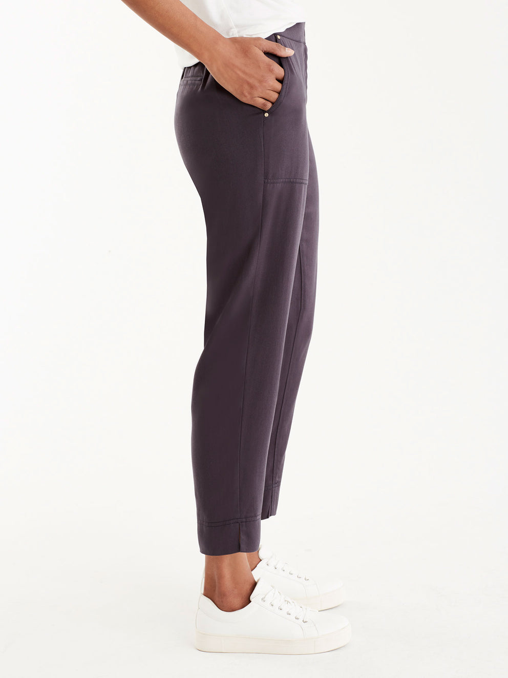 Relaxed Twill Utility Pants, Plus Size Color Ink