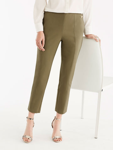 Slim Fit Pintuck Pants, Plus Size