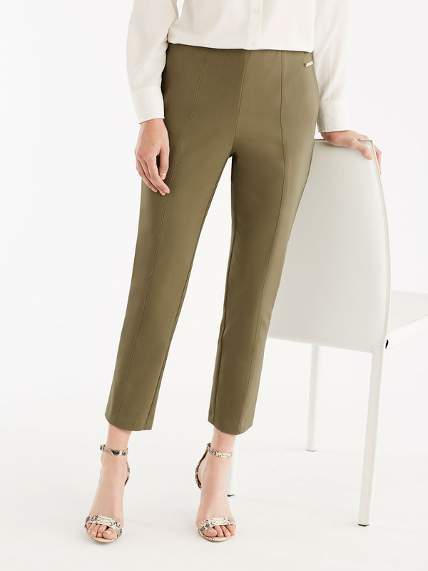 Slim Fit Pintuck Pants