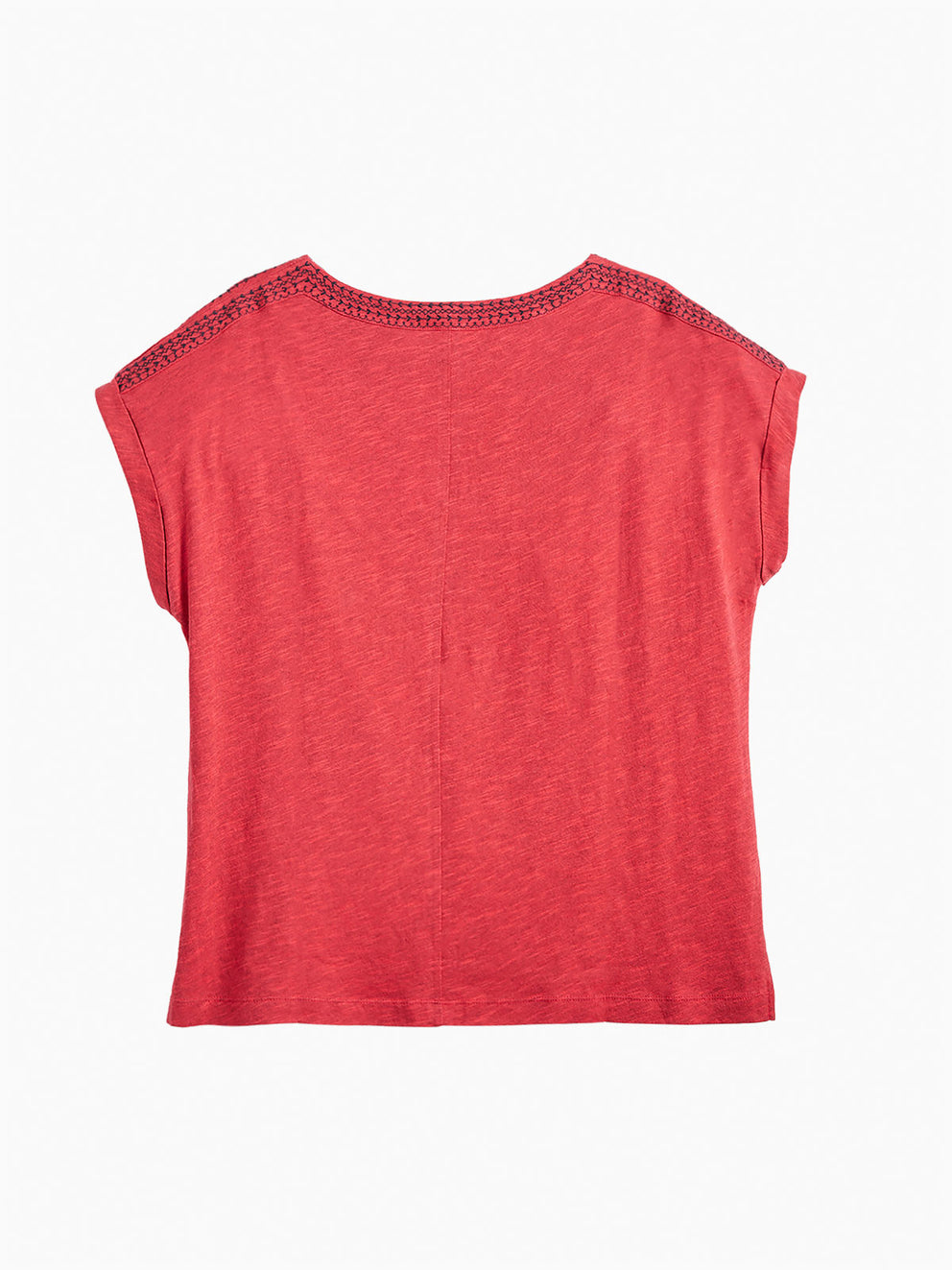 The Jones New York Trim Neck Top, Plus Size in color Poppy Red - Image Position 2