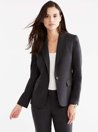 Pewter Washable One-Button Jacket Color Grey