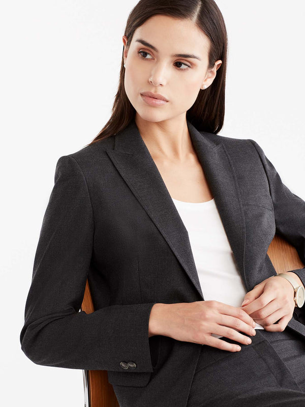 Washable One-Button Jacket