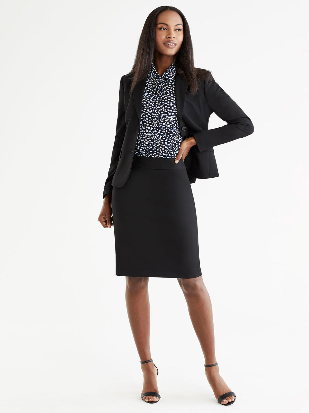 The Jones New York Washable Pencil Skirt in color Black - Image Position 2
